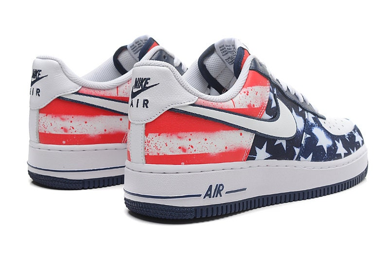Personnalisé Basket s Air Nike Air s Force US FLAG 14a8f0