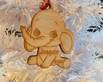 Elephant christmas Ornament personalized baby ornament newborn ornament elephant ornament babys first christmas baby keepsake baby shower