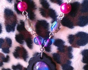 Cameo Necklace - Cosmic Purple