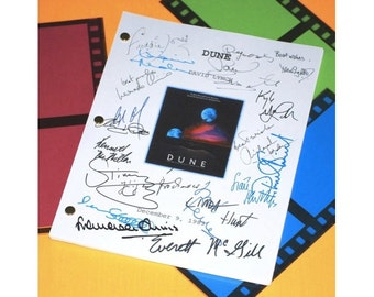 Dune 1983 Movie Script Signed: Francesca Annis, Leonardo Cimino, Brad Dourif, Jose Ferrer, Linda Hunt, Freddie Jones, Richard Jordan & More