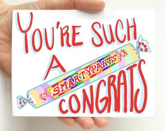 Funny Graduation Card - You're Such a Smartypants Graduation Card - Graduation cards funny, Congrats Graduation Card, high school graduation