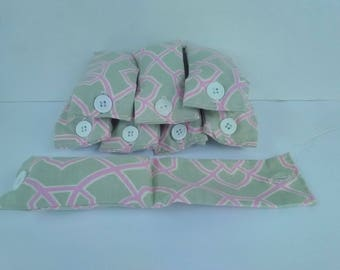 Fabric hair rollers with storage bag. Sleep in rollers  soft rollers