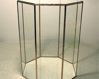 Taller Octagon Glass Display Case - for special treasures
