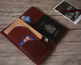 Custom Corporate Gifts Leather Wallet / Passport Case/ Employee Gifts/ Business Gifts, Conference Gifts, 6x8 Sketchbook