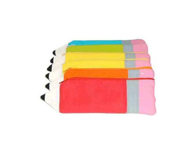 Pencil Shaped Pencil Pouch-Gift for Child-Teacher Gift- Gift Under 10