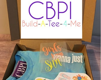 Build-A-Tee-4-Me; a 6 month subscription of a themed DIY tee shirt box for kids.