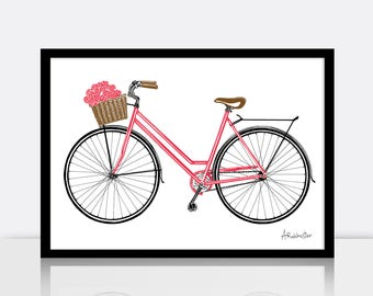Bicycle screen print - ROSIE - (3 colour, A3 sized, limited edition)