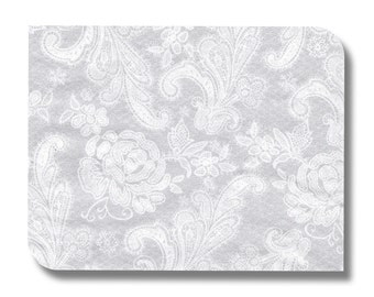 Lace paper napkin serviette for decoupage x 1. Soft grey lace design. No 1045