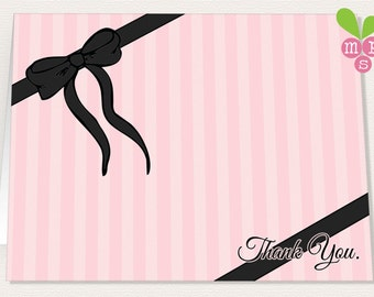 "INSTANT DOWNLOAD- Victoria's Secret-Inspired Printable Thank You Card 5.5 x 8"" (Final Size- 5.5 x 4"")"