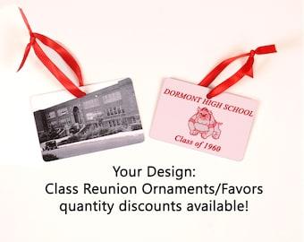 Class Reunion Favors, Class Reunion Ornaments - Quantity Discounts Available