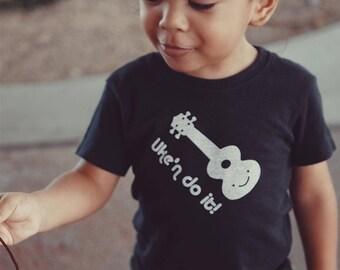 Ukulele Baby Toddler Kid T-Shirt - Organic Triblend