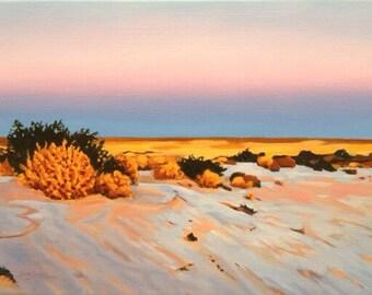 Salt on Sand Lake Ayre Australia
