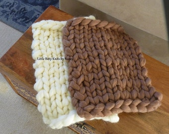 Newborn Photo Prop, Bump Blanket, RTS Blanket, Mini Blanket, Newborn Blanket, Layering Blanket, Knit Blanket