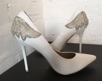 Blossom  (bridal wedding low heel shoes)