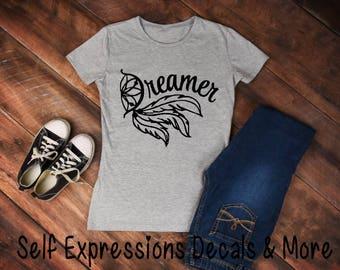 Dreamer Dream-catcher // T shirt // Feathers