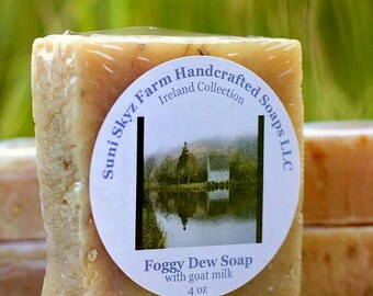 Foggy Dew Soap - Irish Soap - Ireland Collection Soap - Spa Soap - Goat Milk Soap - Natural Soap - Handmade Soap - Suni Skyz Farm Soap