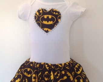 Batman Inspired Infant Dress