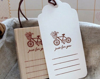 Bicycle Just For You Memo Stamp (1.6 x 2.4in)