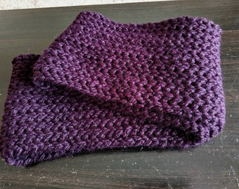 Zanna crochet infinity scarf wool blend
