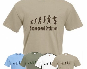 Evolution To Skateboard t-shirt skateboarding T-shirt sizes Sm TO 2XXL