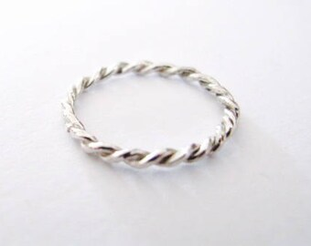 Rope ring, Bride ring, Silver ring, Stacking ring, Simple ring, twisted ring, Ring , thumb ring, dainty ring