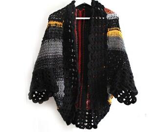 Bohemian Cardigan / Hand Knit Cardigan / Womens Knit Cardigan / Brown Knit Cardigan / Chunky Knit Cardigan / Womens Gift / Gift for Wife
