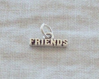 "Sterling Silver ""FRIENDS"" Charm"