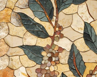 Leaves Petal Mosaic Pattern Design