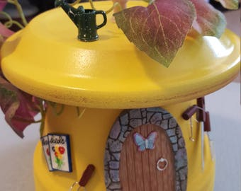 Upside down Fairy Garden