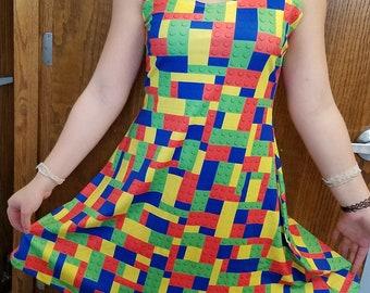 Building Blocks Lego-Inspired Dress