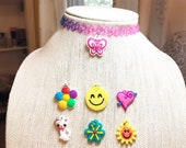 Rainbow Tattoo Choker, Pi...