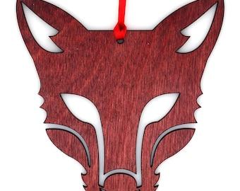 Wooden Fox Ornament