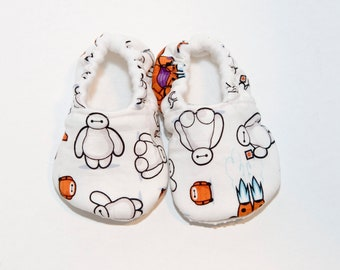 Baymax Baby Shoes - Crib Shoes - Toddler Shoes - Soft Baby Booties