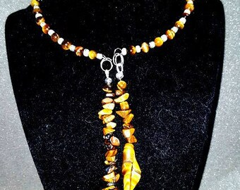 Tigers Eye Choker Style Necklace