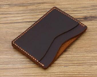 Minimalist Leather Cardholder, Distressed Leather Billfold Wallet, Front Pocket Wallet, Slim Wallet, Ccredit Card Holder,Antique Wallet