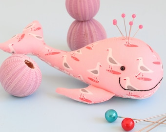 pin cushion pattern, pin cushion pdf, plush pdf pattern, whale sewing pattern, felt whale, softie pdf pattern stuffed toy pdf, felt whale