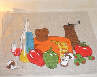 1970's Vintage Linen Place Mats Set of 2