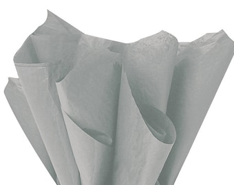 Gray Tissue Paper . 20 x 30 inches . 24 sheets