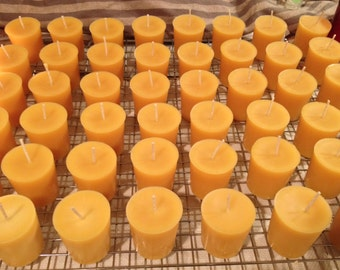 100 Votive beeswax candles