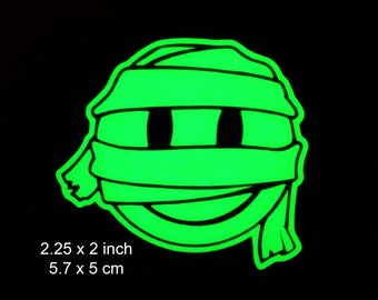 Mummy Cute Smiley Glow in the Dark Decal / Sticker - Kawaii Emoji  Macbooks, iPhones, Android, Laptops, Windows