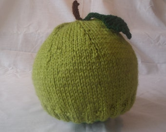 Hand Knitted Fresh Apple Beanie Hat (Teen and Adult Sizes)