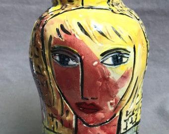 Colorful city vase