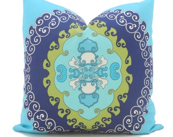 Trina Turk Super Paradise Indoor Outdoor Decorative Pillow Cover, Schumacher, 18x18, 20x20, 22x22, 24x24 or 26x26