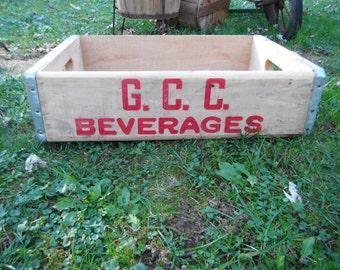 Vintage GCC Wooden Soda Crate
