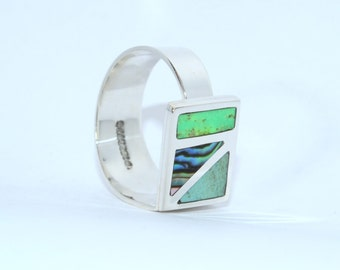 Adjustable Sterling Silver Ring Boreal