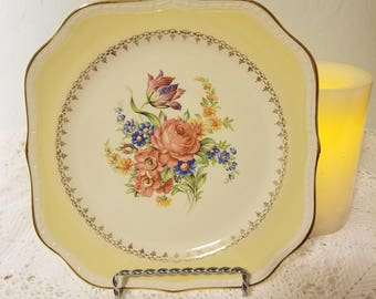 Georgian Eggshell yellow salad plate
