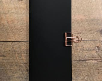 Black & White Mixed Media Paper Traveler's Notebook Insert- Midori Insert- Art Journal Insert- Scrapbook Insert- Various Sizes