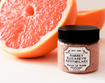 Grapefruit Lip Scrub - Citrus - natural skincare & vegan - gift for her -  2 in 1 scrub and balm edible lip scrub