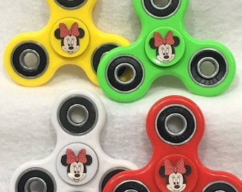 Disney's Minnie Mouse 3-Way Fidget Spinner **Limited Edition** 608 Bearings. 4 Colors-Logo on both sides