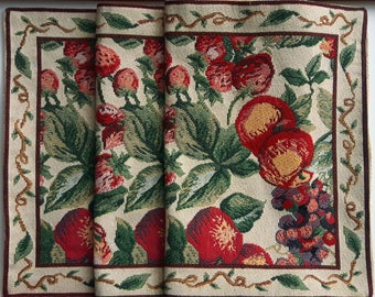 Vintage tapestry fruit table runner / wall hanging 110 cm x 34 cm / 43.3 inch x 13.4 inch